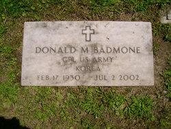 Donald M Badmone