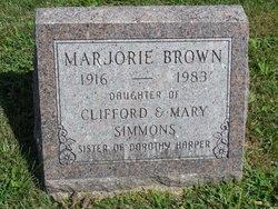 Marjorie J <i>Simmons</i> Brown