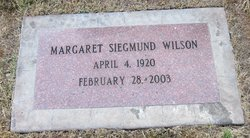 Margaret Siegmund <i>Hardman</i> Wilson
