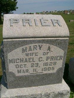 Mary Ann <i>Elcock</i> Prier