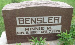 Minnie M Bensler