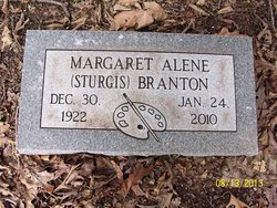 Margaret Alene <i>Sturgis</i> Branton