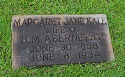 Margaret Jane <i>Kale</i> Abernethy