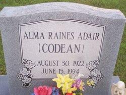 Alma Codean <i>Raines</i> Adair