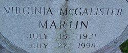 Virginia Jean <i>McCalister</i> Martin