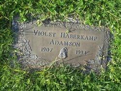 Violet Gladys <i>Haberkamp</i> Adamson
