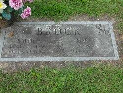 Mary J <i>Shipman</i> Brock