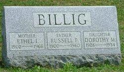 Ethel I. <i>Gable</i> Billig