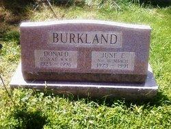 June E Burkland