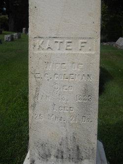 Kate <i>Pruden</i> Coleman