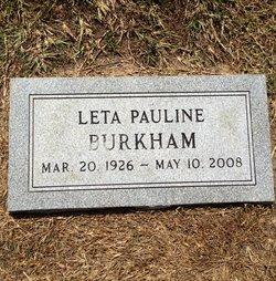 Leta Pauline Burkham