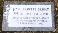 Jessie C <i>Coutts</i> Grant