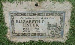 Elizabeth P. <i>Tsosie</i> Lister
