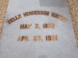 Belle <i>Henderson</i> Watts