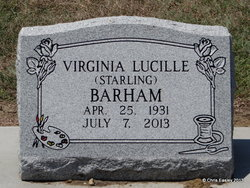Virginia Lucille <i>Starling</i> Barham