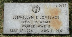 Llewellyn E Lovelace
