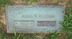 Anna Rebecca <i>Williams</i> Allison