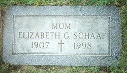 Elizabeth Gertrude <i>Wallner</i> Schaaf
