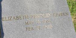 Elizabeth <i>Pendley</i> Gowen