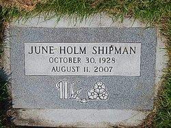 June <i>Holm</i> Shipman