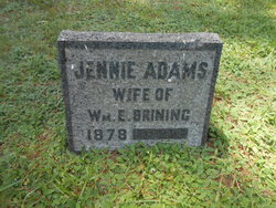 Jennie <i>Adams</i> Brining