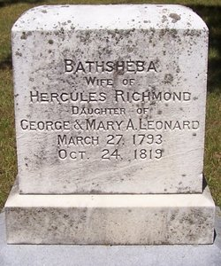 Bathsheba <i>Leonard</i> Richmond