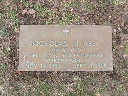 Nicholas Milford Abey