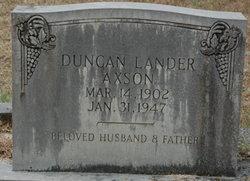 Duncan Lander Axson