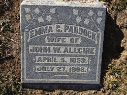 Emma C <i>Paddock</i> Allgire