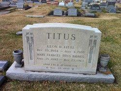 Mary Frances <i>Titus</i> Baynes