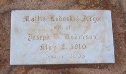 Mattie Lodoskie <i>Argoe</i> Robinson