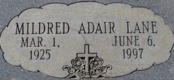 Mildred Lucille <i>Adair</i> Lane