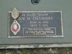 Zoe H Mama Zoe <i>Hoffecker</i> Chambers