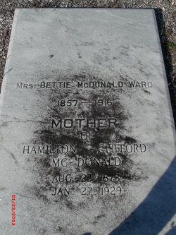 Sarah Elizabeth Bettie <i>McDonald</i> Ward