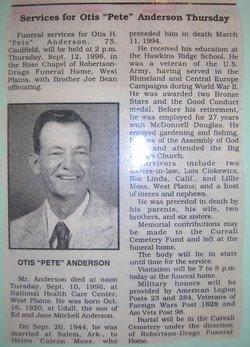 Otis H. Pete Anderson