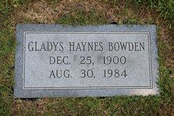Gladys Haynes Bowden