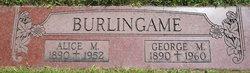 Alice Mae <i>Henry</i> Burlingame
