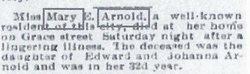 Mary E Arnold