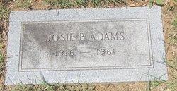 Josie B <i>Claybrook</i> Adams
