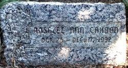 Rosalee Ann Cahoon