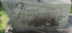 Iola West <i>Hutto</i> Allen