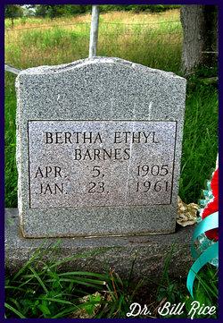 Bertha Ethyl Barnes