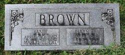 Ora Jane Janie <i>Sea</i> Brown