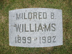 Mildred Mil <i>Blassenham</i> Williams