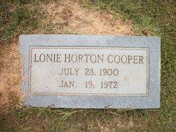 Lonnie <i>Horton</i> Cooper