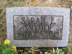Sarah Elizabeth <i>McWherter</i> Snider