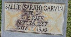 Sallie Sarah <i>Garvin</i> Rape