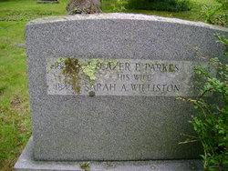 Sarah Adeline <i>Williston</i> Parkes
