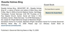 Rosetta <i>Holmes</i> Bing