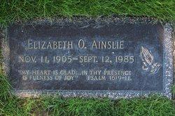 Elizabeth O Ainslie